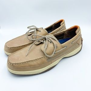 Sperry Top Sider Men's 13 Beige Leather Boat Shoes